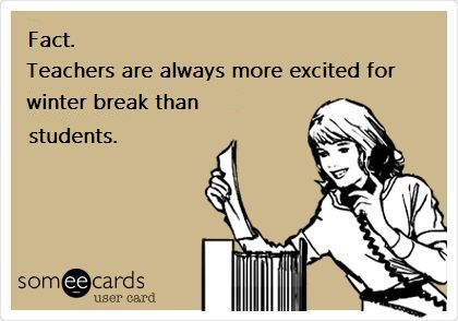 Image result for cartoon about winter break for students