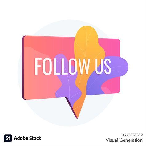 """Follow Us"" social media notification icon"