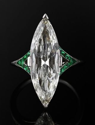 Vintage Emerald And Diamond Ring Emerald Ring Osrs Ge