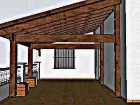 Diseño De Porche De Madera En Una Terraza En Llliça De Munt