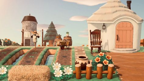"""""""Gave chevre a little farmland inspired by ! next project is a small little farmers market to go with it :))"""" Woodland Creatures, Woodland Animals, Farm Animals, Cute Animals, Animal Crossing Villagers, Animal Crossing Game, Sims, Island Design, Watercolor Animals"""