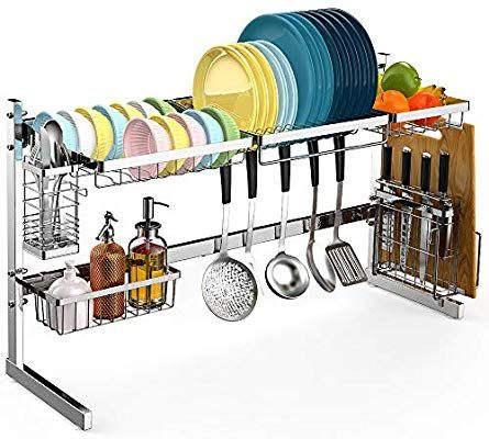 Amazon Com Over The Sink Dish Drying Rack Veckle Large Dish Rack