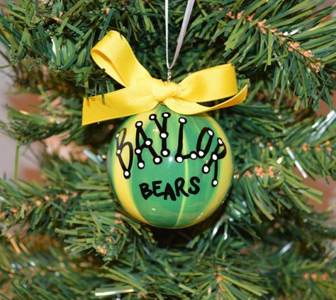#Baylor Ornament with bow, by TheSouthernTurtle on Etsy
