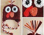 Maroon Hokie / Turkey Beanie Crochet Pattern by KraftyShack on Etsy, $4.99 USD