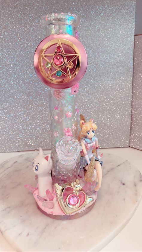 Listing is made to order for one custom waterpipe art featuring the powerpuff girls. Please read all faqs and policies prior to placing order. Buyer confirms they are at time of purchase. Glass Pipes And Bongs, Glass Bongs, Puff And Pass, Stoner Girl, Bad Girl Aesthetic, Water Pipes, Sailor Moon, At Least, Girly