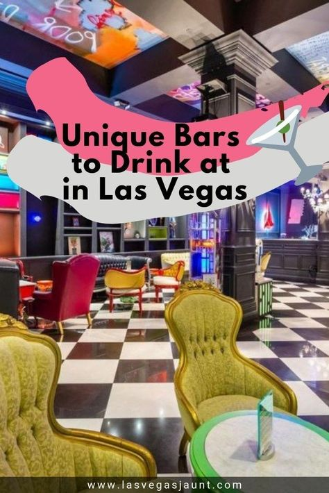 Tired of drinking at the same Las Vegas casino bars? Spread your wings and expand your horizons with our list of unique bars. Most are themed but all of them offer good times. Check it out! Las Vegas Bars, Las Vegas Food, Las Vegas Restaurants, Vegas Casino, Best Bars In Vegas, Vegas Fun, Las Vegas Vacation, Visit Las Vegas, Vacation Ideas