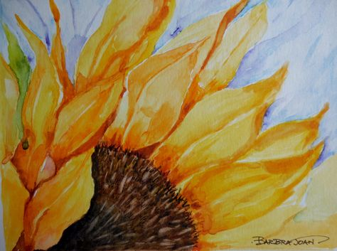 Sunflowers sunflower watercolor original by BarbraJoanOriginals