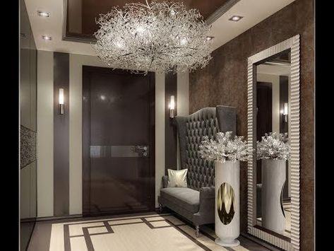 شقق مغربية مفروشة بأحدث الديكورات العصرية بمدينة الدارالبيضاء بمراكش والرباط Youtube House Design Hallway Wall Decor Design