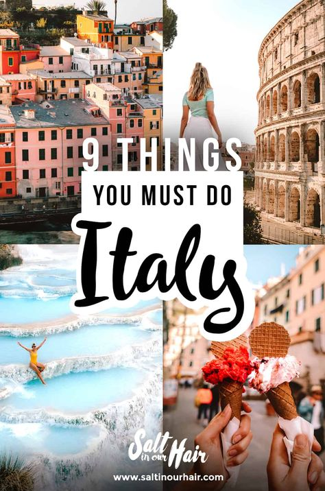 9 Things You Must Do in Italy | Italy Things to do | Italy Must do | Italy Travel Tips | Things to do in Italy | Best things in Italy #italy #italia #italytravel #italyvacation #thingstodo #traveltips #europe #europetravel