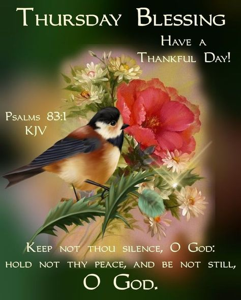 Thursday Blessing! Have a Thankful Day! Keep not thou silence, O God: Hold not thy peace, and be not still, O God. #Thursdayblessings #Thursdaymorningblessing #Blessedthursdayquotes #Blessingsforthursday #Blessedweekquotes #Blessedquotes #Blessingquotes #Morningblessingquotes #Everydayblessingquotes #Thursdaymorningwishes #Thursdayquotes #Thursdaymorningquotes #Thursdaysayings #Positiveenergy #Inspirationalmorningquotes #Inspirationalquotes #Dailyquotes #Everydayquotes #Instaquotes