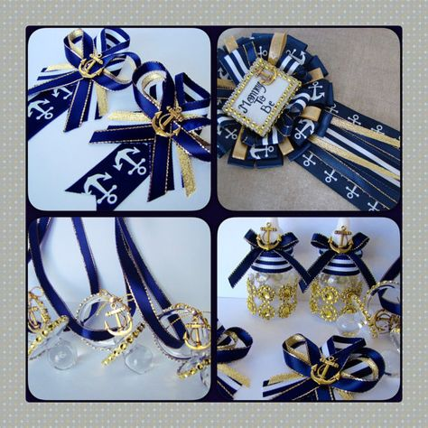 Set Nautical mommy to be pin nautical corsage by Marshmallowfavors