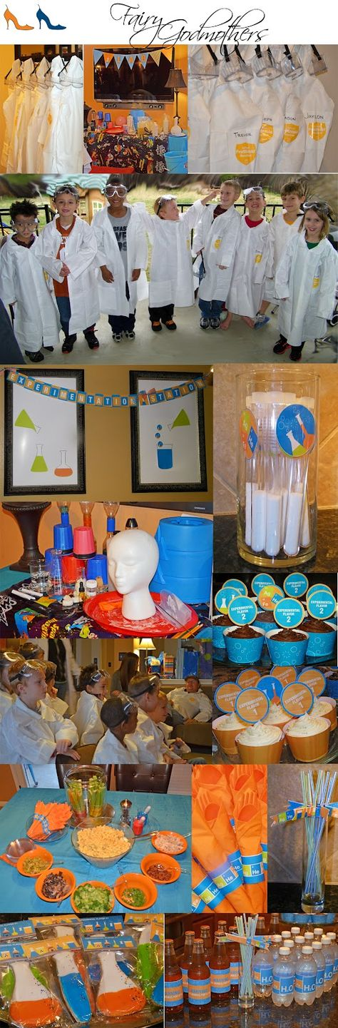 Science birthday party with printables from thecelebrationshoppe.com