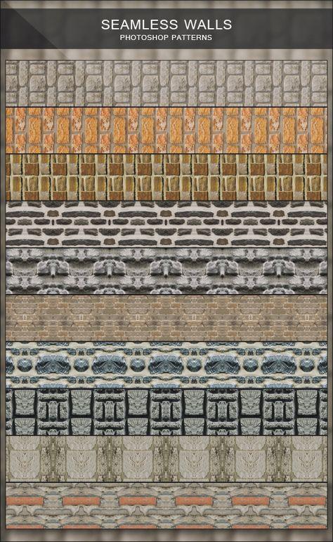 Seamless Walls Photoshop Patterns Photoshop