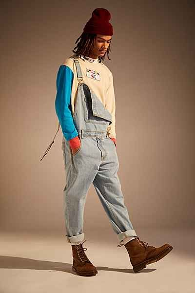 BDG Light Stonewash Denim Overall - Urban Outfitters