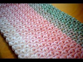 Haekelmuster Sehr Schoenes Muster Fuer Ein Dreieckstuch Youtube Decke Hakeln Muster Hakelmaschen Anleitung Strickdecke Muster
