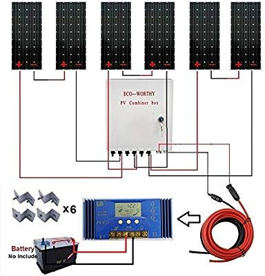 Eco Worthy 1000 Watt 1kw 24 Volt Solar Panel Off Grid Rv Boat Kit With 60a Pwm Charge Controller 12 Volt Solar Panels Solar Panels 12v Solar Panel