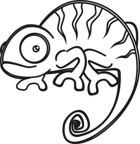 camaleao | Dibujos de camaleones, Camaleon para colorear y Aztecas ...