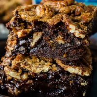 So many of you asked for a dessert recipe to serve around the holidays, many for a variation of Pecan Pie, so what better dessert recipe than Pecan Pie Brownies? #brownies #recipe #holidays #holidaydessert #holidayrecipe #familyrecipe #southernrecipe #pecans #pecanpie #pecanpiebrownies #recipe #christmas #christmasrecipe
