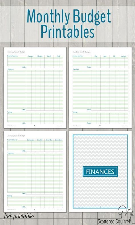 Monthly Family Budget Printables Collection Free Budget Printables Family Budget Printables Monthly Budget Template