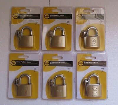 Details About 6 X Yale Padlock 40mm High Quality Storage Gate Shed