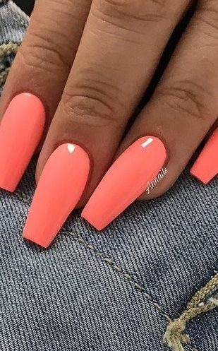 61 Summer Nail Color Ideas For Exceptional Look 2020 In 2020 Nail Colors Summer Nails Colors Summer Nails