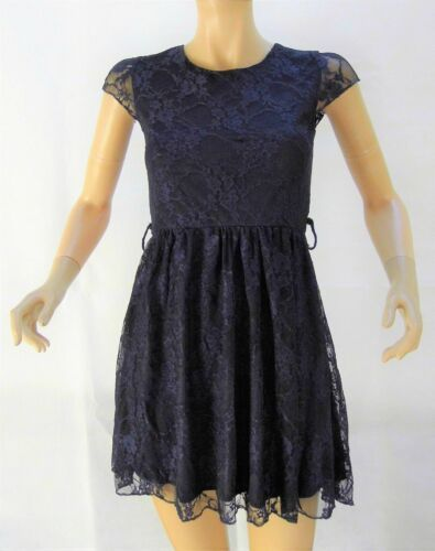 New Ladies Club L Navy Lined Lace Skater Dress Size 18 Dresses Ebay Link