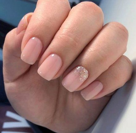 Wedding Nails For Bride Acrylic Simple Sparkle 17 Ideas Bride Nails Solid Color Nails Pink Nails