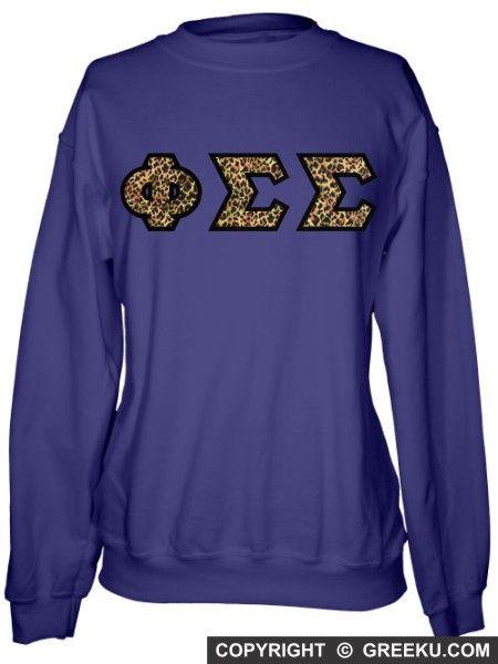 Pi Sigma Epsilon Sewn Lettered Crewneck Sweatshirt