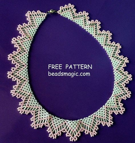 Best Seed Bead Jewelry 2017 Free pattern for necklace Alba