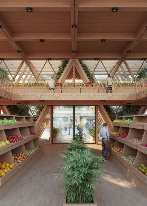 Modular triangular modules form Precht's Farmhouse that connects architecture with agriculture