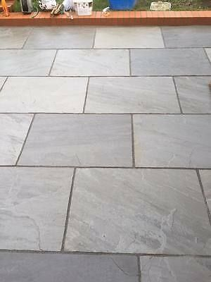 Silver Grey Indian Sandstone Paving Slabs 900x600 Large Size Paver