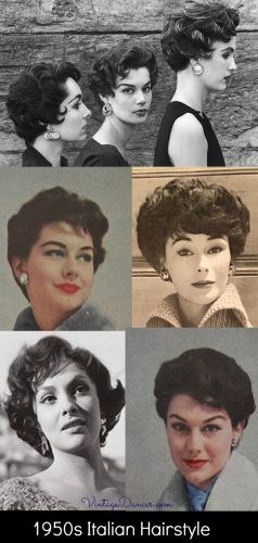 What Did Women Wear In The 1950s 1950s Fashion Guide In 2021 Italian Hair 1950s Hairstyles 1950s Hairstyles Short
