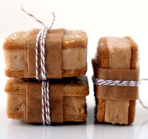 Pumpkin and Gingerbread Ice Cream Sandwiches...great for Autumn and Christmas.