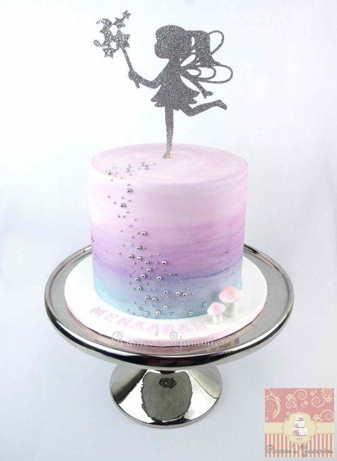 21+ Beautiful Image of Fairy Birthday Cake . Fairy Birthday Cake Fairy Birthday Cake With Water Colour Effect Wwwrameesyummies  #HappyBirthdayCake