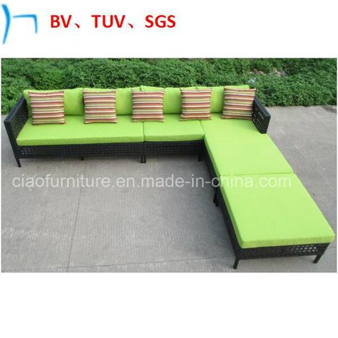 Hot Item Turkish Style Garden Rattan Furniture L Shape Sofa