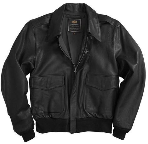 Шкіряна льотна куртка A-2 Goatskin Leather Jacket (чорна) Розміри  2XL  Ціна  391   32de1fc844953