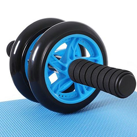 Kniematte Bauchtrainer Roller AB-Wheel Bauchroller Fitness Bauchmuskeltrainer