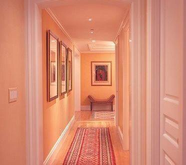 wandfarbe apricot-flur farbgestaltung - fresHouse Wohnideen - wohnzimmer orange streichen