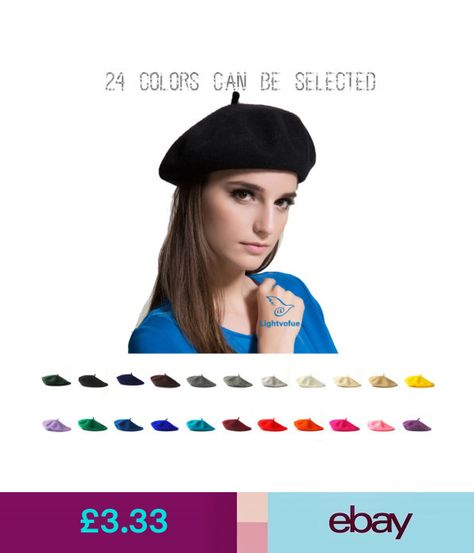 13677ee1ea3 Hats Plain Beret Hat Wool Autumn Women