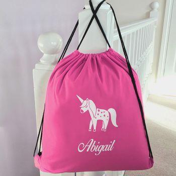 Personalised Cricket//PE//School//Sports Drawstring Bag
