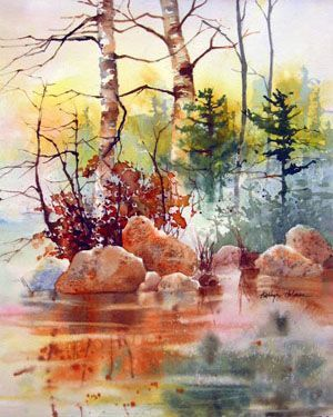 By Karlyn Holman In 2020 Watercolor Art Landscape Paintings
