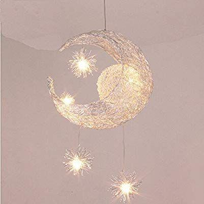 Lonfenner Creative Moon And Stars Pendelleuchte Deckenleuchte