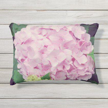 Pink Hydrangea Flowers Outdoor Pillow Pink Pillows Decorative Pillows Pink Hydrangea