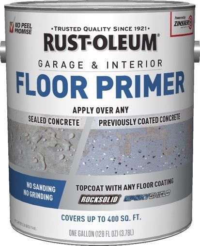 Rust Oleum Garage Floor Primer Makes Recoating Epoxy Easy Garage Floor Paint Garage Interior Garage Floor
