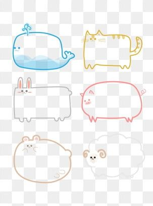 Cartoon Cute Animal Bubble Border Dialog Illust Element Png Image And Clipart How To Draw Hands Simple Cartoon Bullet Journal Ideas Pages