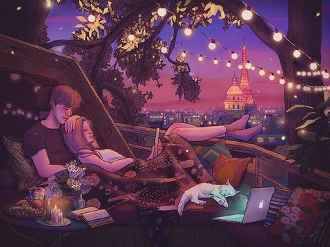 Illustrated Love Stories Capture the Quiet Moments of