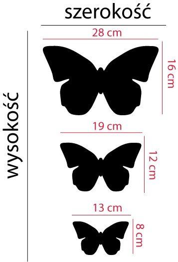 Szablon Z Tworzywa Trzy Motyle Naklejki Szablony Do