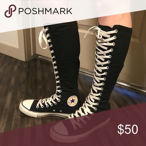 Knee high All Star Converse Black Fell in love with these