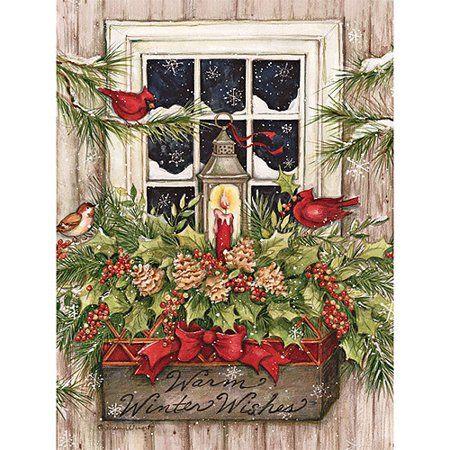 Lang Window Box Snow Boxed Christmas Cards Walmart Com In 2020 Boxed Christmas Cards Christmas Paintings Vintage Christmas