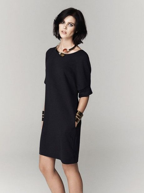Ongekend Zwarte jurk met zakken   Designerkleding, Jurken XI-21